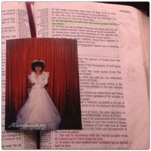 This is a picture when I was eight years old. The day I made my first holy communion but it wasn't until I was 33 that I really had my 'First' holy communion with God!